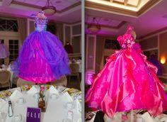 Beautiful dress Bat Mitzvah centerpieces! | MitzvahMarket.com