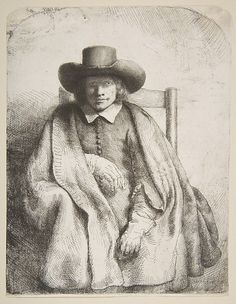 Clement de Jonghe, printseller Rembrandt (Rembrandt van Rijn)  (Dutch, Leiden 1606–1669 Amsterdam) Date: 1651 Medium: Etching, drypoint, and burin; fourth state of six Dimensions: sheet: 8 3/16 x 6 5/16 in. (20.8 x 16 cm) Classification: Prints Credit Line: Gift of Henry Walters, 1917 Accession Number: 17.37.73