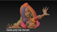 Quick poly hair zbrush featured