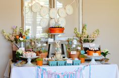 Easter, Peter Rabbit Party Ideas – Dessert Table from @Kara's Party Ideas