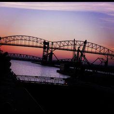 bridge from the Soo Locks to Canada