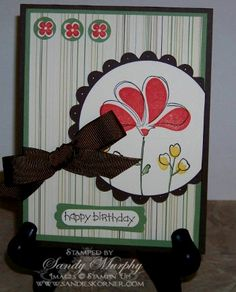 Awash With Flower by Sandy Murphy - Cards and Paper Crafts at Splitcoaststampers