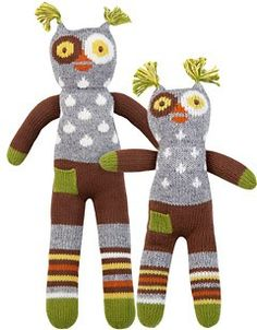 BlaBla knit dolls - Wink the owl - mini: $44