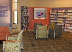 AB Teen Center_Media_#3 by Kimberly Bolan Cullin, via Flickr - bench seat Teen Library Space, Bench Seat, Abs, Home, Crunches, Ad Home, Abdominal Muscles, Homes, Killer Abs