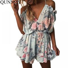 On Sale ELSVIOS Women Rompers print lace Jumpsuit Summer Short pleated Overalls Jumpsuit Female chest wrapped strapless Playsuit Boho Jumpsuit, Jumpsuit Casual, Ruffle Jumpsuit, Lace Romper, Jumpsuit Shorts, Summer Jumpsuit, Printed Jumpsuit, Floral Romper, White Romper