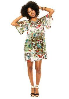 Vestido Mercatto Florido Multicolorido - Marca Mercatto