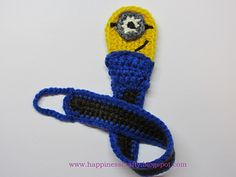 Minion Pacifier Holder pattern by HappinessCrafty