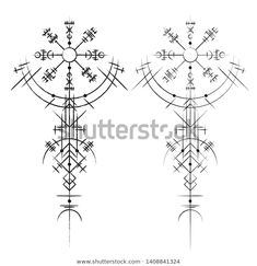 Find Black Abstract Viking Magic Symbols Isolated stock images in HD and millions of other royalty-free stock photos, illustrations and vectors in the Shutterstock collection. Thousands of new, high-quality pictures added every day. Viking Rune Tattoo, Norse Tattoo, Viking Tattoos, Viking Compass Tattoo, Celtic Tattoos For Men, Viking Tattoo Sleeve, Sleeve Tattoos, Hai Tattoos, Body Art Tattoos