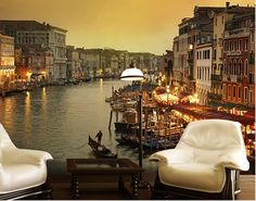 Il Canale Grand Wallpaper Mural - Grand Canal feature wall decor