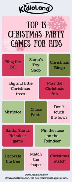 Do you want to know what games to play on a Christmas Party?