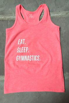 Eat Sleep Gymnastics Racerback Customized Tank Top by TheGymMom on Etsy
