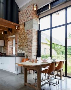 Ferienhaus Frankreich Small Houses on the Prairie Exterior Design, Interior And Exterior, Grand Gite, Hotel Swimming Pool, Small Fireplace, Loft Style, Living Room Modern, House In The Woods, Decorating Your Home