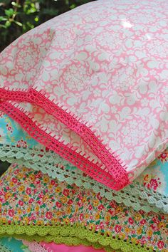 Posy dreams pillowcase - I had a great aunt that did this and I'd love to learn how.