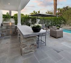 """Outstanding """"outdoor kitchen designs layout patio"""" info is offered on our web pages. Have a look and you wont be sorry you did. Outdoor Kitchen Countertops, Kitchen Island, Bbq Island, Granite Countertops, Large Backyard Landscaping, Backyard Ideas, Patio Ideas, Pool Ideas, Pergola Ideas"""