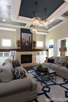 Living room design offers plenty to look at