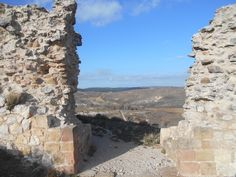 Uno de los huecos en la muralla norte de Atienza