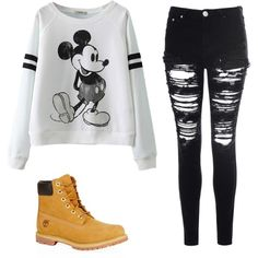 Disneyland by hipster-girly-forever on Polyvore featuring polyvore, fashion, style, Glamorous and Timberland