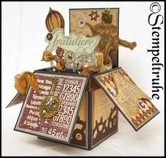 *Pop up Card-Box STEAMPUNK*