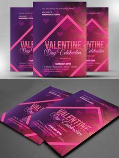 Valentine Day Celebration Flyer. Wedding Fonts. $8.00