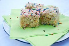 Birthday Rice Krispie Treats instead of cupcakes at school
