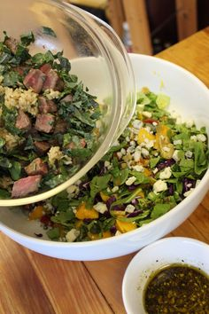 Mango, Steak, Brown Rice and Kale Hot Chopped  /  The Kitchen Chopper