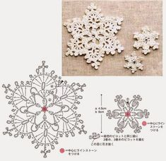 Crochet a few pretty little snowflakes for Christmas this year! Crochet Snowflake Pattern, Crochet Stars, Christmas Crochet Patterns, Crochet Snowflakes, Christmas Snowflakes, Noel Christmas, Christmas Knitting, Crochet Motif, Crochet Doilies