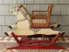 S.A. Smith Mfg. Co. Child's Glider Rocking Horse