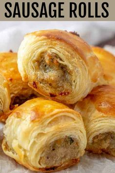 Sausage Rolls – An Easy Fun Party Appetizer! Sausage Rolls – An Easy Fun Party Appetizer!,Fingerfood Easy, filling and perfect for parties these Sausage Rolls are savory, meaty and full of just the right. Finger Food Appetizers, Appetizers For Party, Sausage Appetizers, Christmas Appetizers, Easy Finger Food, Finger Food Recipes, Puff Pastry Appetizers, Delicious Appetizers, Food For Parties