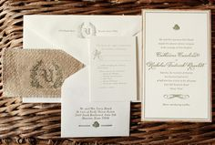 Rustic Burlap Wedding Invitations by Atheneum Creative via Oh So Beautiful Paper (4) #wedding #atheneumcreative