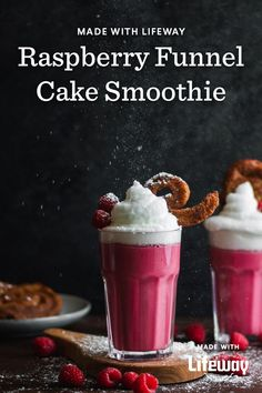 Remember visiting the state fair and walking around with a funnel cake? Powdered sugar all over your face and hands? We have taken those cherished childhood memories and made a healthy Raspberry Funnel Cake Smoothie using our kefir. Healthy Food Choices, Healthy Recipes, Cream Soda, Ice Cream, Farmers Cheese, Banana Coconut, Kefir, Food Allergies, Original Recipe