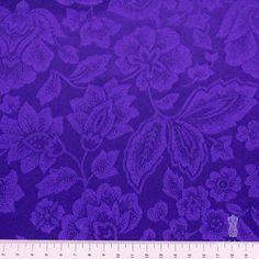 Жаккард (фиолетовые цветы, тонкий) (004555) купить в интернет магазине итальянских тканей по цене 840 р.