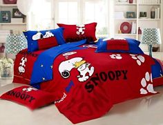 Snoopy Polka Dot Full Queen Size Bedding Peanuts Bedding