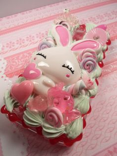 Kawaii Love Bunny Decoden Deco Case for Samsung by Lucifurious, $34.00