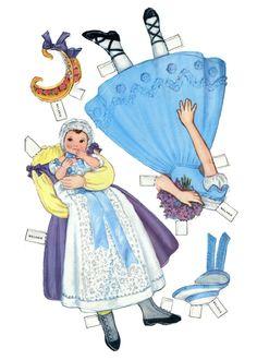 Century Dolls, by Queen Holden, paperdolls