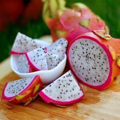 Dragon Fruit come from a spineless cactus that grows in trees, leaning against the trunk, draping itself over limbs. In the tropics, Hylocereus forms fat, shocking pink fruit that are spiky looking an