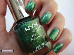Maria's nail: 181. NYX - 185 Emerald Forest http://mariasnail.blogspot.nl/2013/07/181-nyx-185-emerald-forest.html