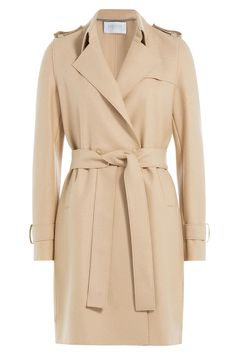 Wool Crepe Trench Coat  from HARRIS WHARF LONDON | Luxury fashion online | STYLEBOP.com