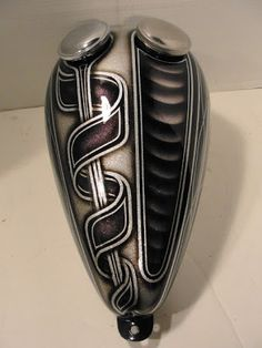 """""""Mustang"""" style motorcycle gas tank by PaintbyChris.blogspot.com 