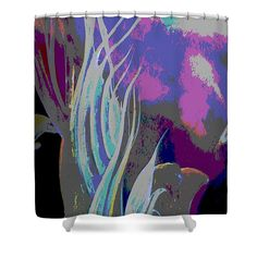 Colorful Melody Waves Shower Curtain by Faye Anastasopoulou. This shower curtain is made from polyester fabric and includes 12 holes at the top of the curtain for simple hanging. The total dimensions of the shower curtain are wide x tall. Beautiful Modern Homes, Fancy Houses, Pattern Pictures, Curtains With Rings, Curtains For Sale, My Themes, Tag Art, Shower Curtains, Artist At Work