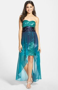 Speechless Sequin Illusion Party Dress (Juniors) available at #Nordstrom