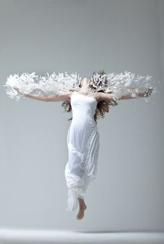 Awesome shoot as inspired in the greek winged Victory of Samothrace!!