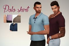 Polo Shirt for the Sims 4.   I never liked the color options for this top from Backyard stuff, I needed some (really) plain one ! So here it is, I hope it will be useful for someone else. ;p   Available for teen to elder men, with 25 color options.   You must have Backyard Stuff.        Download : SimFileShare   And if you like my creations, feel free to make a donation ! ;)    And if want to edit one of my custom content and share it, or use it as a base, please just ask. Don't re-upload my…