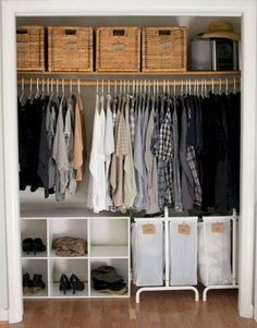 trendy apartment storage hacks organizing ideas tips Closet Bedroom, Bedroom Storage, Bed Storage, Storage Hacks, Wardrobe Storage, Master Closet, Closet Space, Diy Wardrobe, Storage Shelves