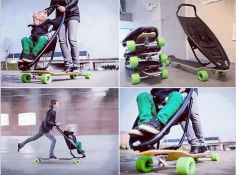 Skatin Babies Now mom and child can wipe out together