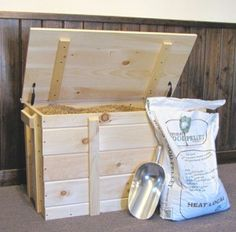 Pine wood pellet storage box holds 240 lbs wood pellets (six 40 lb. bags). //jamaicacottageshop.com/shop/pellet-box/ & Storing Your Pellets (in Style) | Pinterest | Stove Pellet stove ...