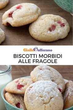 Biscotti morbidi alle fragole: piccole delizie fragranti e golose da gustare in ogni momento della giornata... E sono anche semplicissimi da preparare!   #strawberry #cookies #sweet #biscotti #baking #fragole   [Easy strawberry cookies recipe]