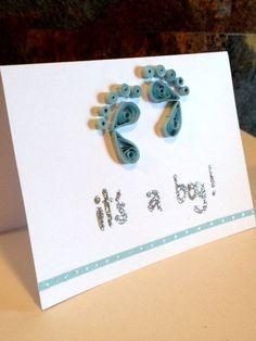 It's a Boy Quilling | http://cutegreetingcards.blogspot.com