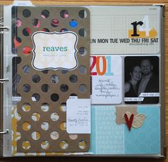 Reaves, party of four: Project Life 2012 : my title page, goals + products I'm using