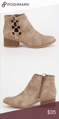 Side Bungee Booties 8.5 Brand new in box. BOX NOT INCLUDED, will include for 3$ . Purchased just never wore :( will ship with box for 3$ more please ask Shoes Flats & Loafers