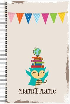 Personalized Fun Notebooks  Happy Owl for Teachers by TIPgifts, $20.75